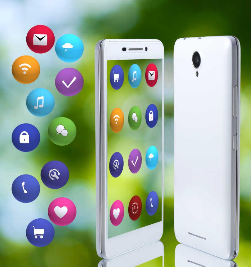 智能手机的应用程序宣传图