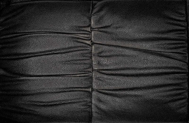 褶皱的黑色真皮背景