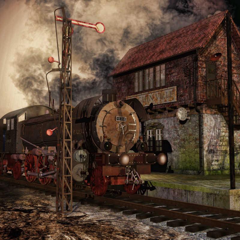 复古老式火车