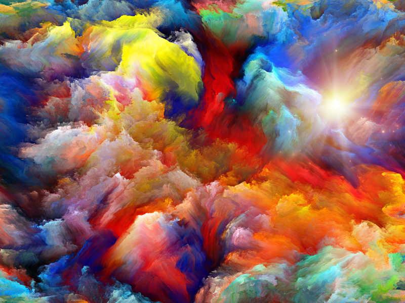 七彩抽象艺术背景