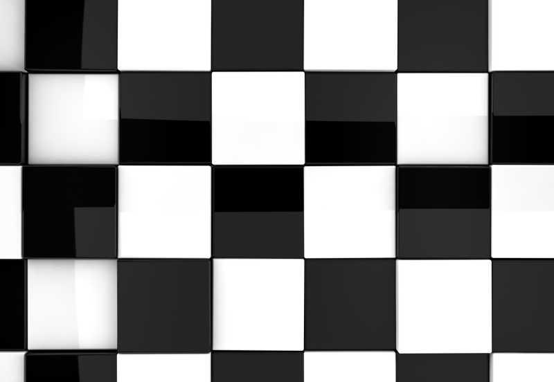 黑白色方块图案