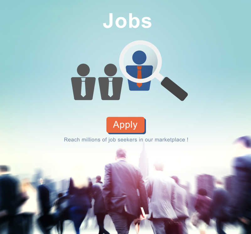 就业招聘人力资源网站概念背景