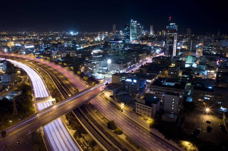 特拉维夫的城市夜景