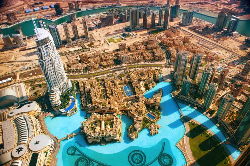 迪拜的繁华城市