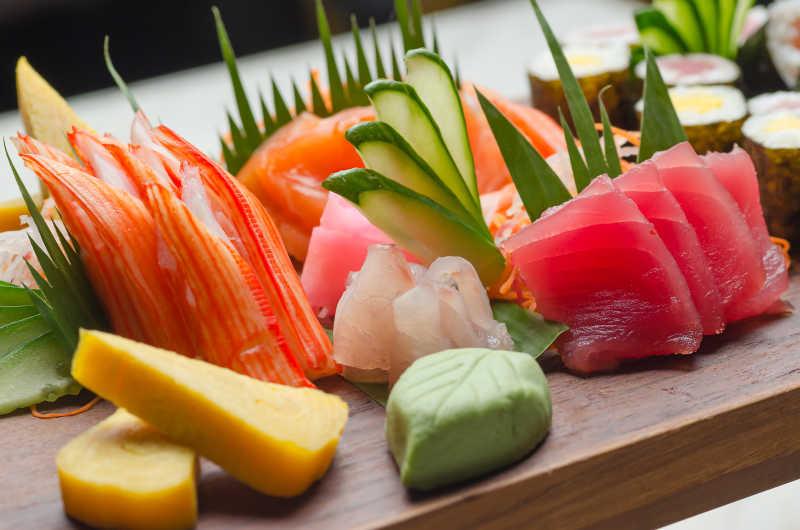新鲜的寿司食材