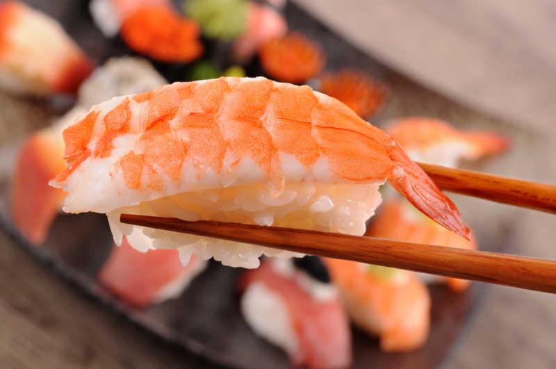 美味的鲜虾寿司