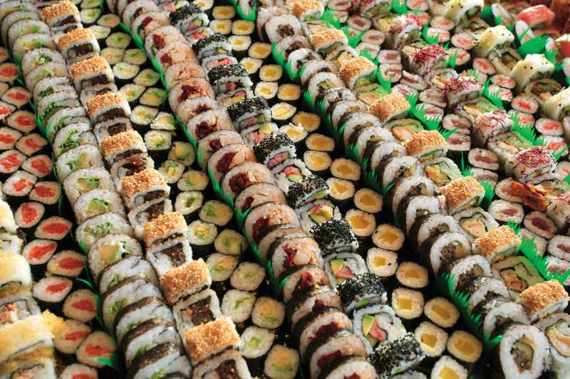 市场上的寿司
