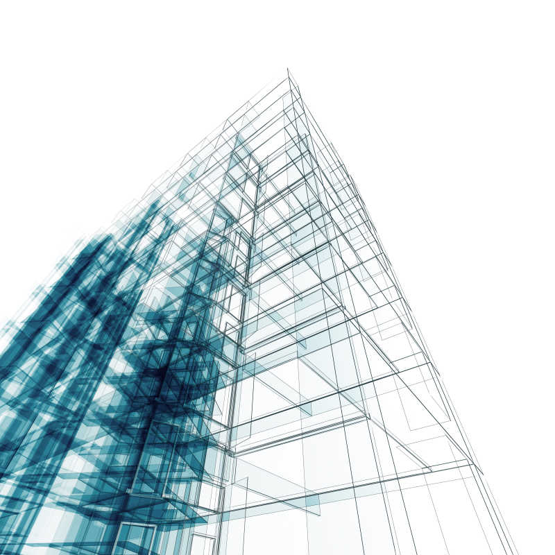 现代风格建筑模型