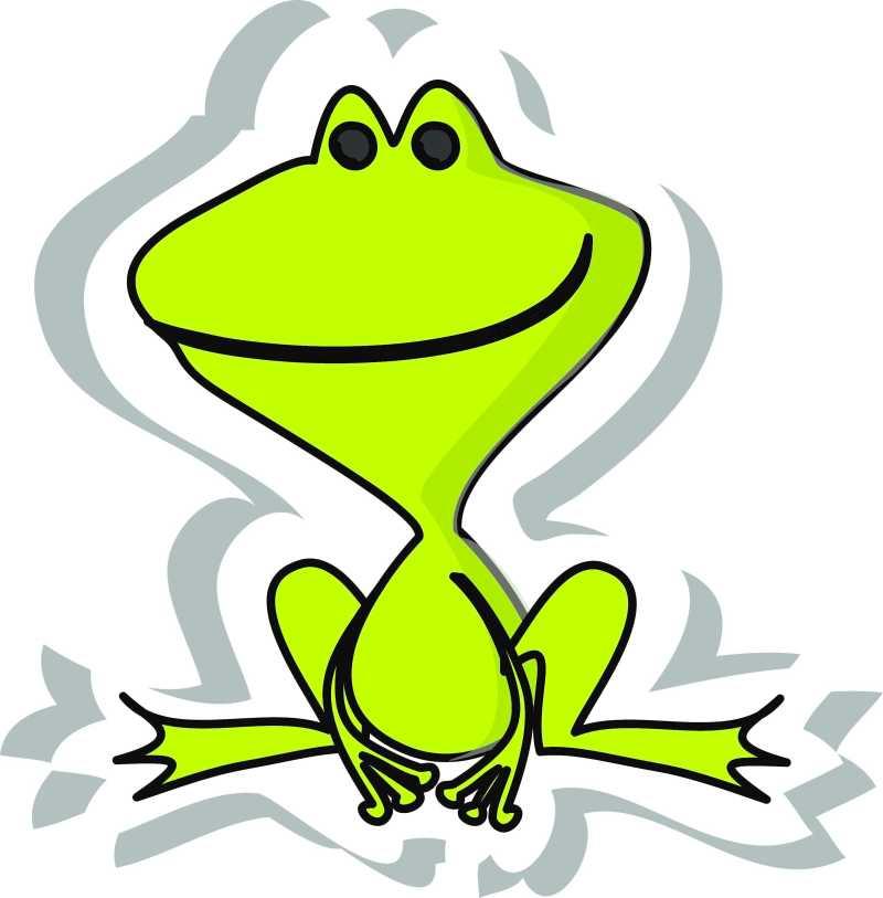 可爱的卡通青蛙