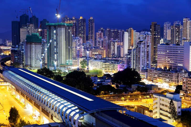 香港美丽的城市夜景