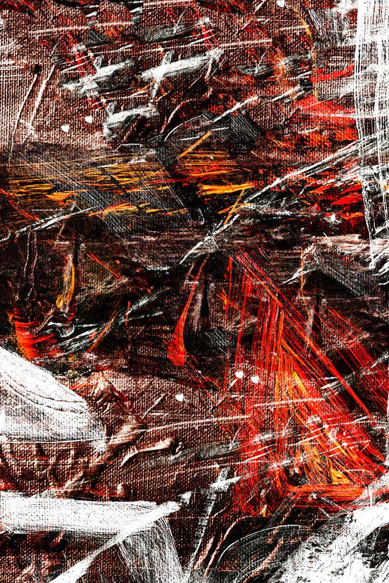 抽象的油画布上的画