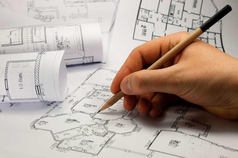 建筑师的手绘图