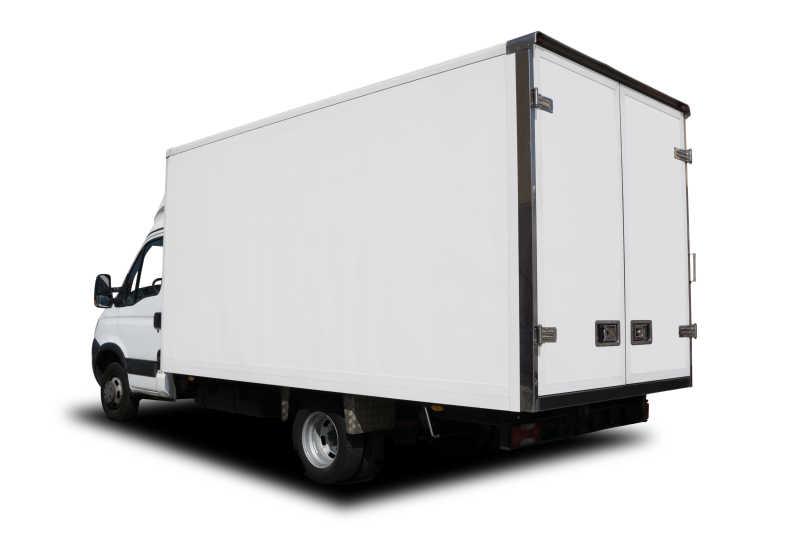 白色的送货卡车
