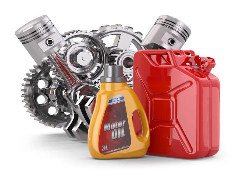 发动机机油和汽油罐