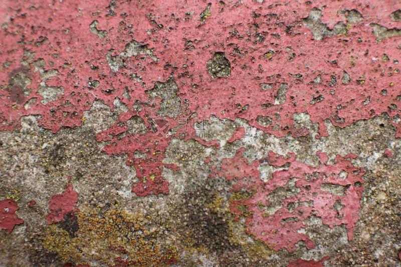 风化的红色墙面