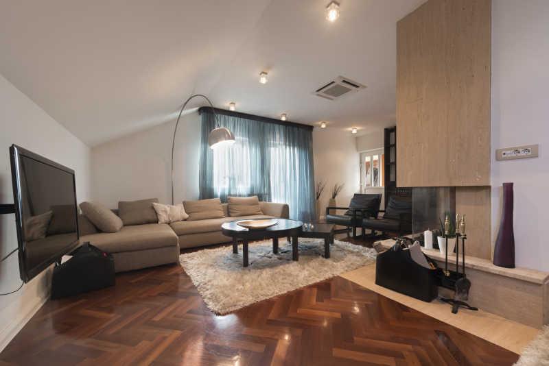 宽敞的时尚简约的客厅