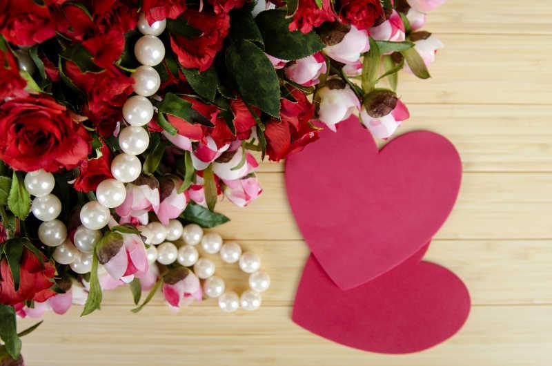 浪漫的情人节礼物概念