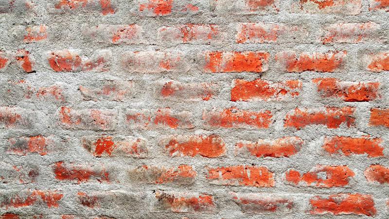 老旧红色砖墙背景