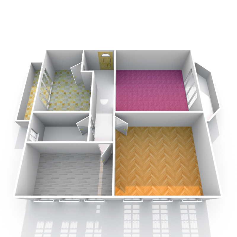 公寓3D室内透视