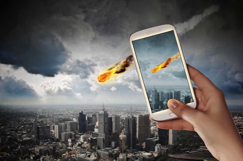 手机拍摄陨石