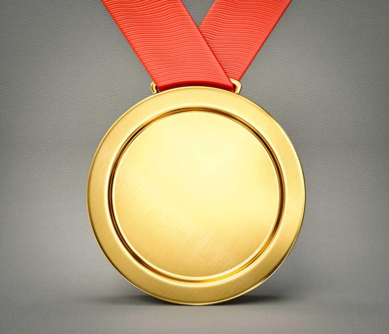 灰色背景下的胜利金牌