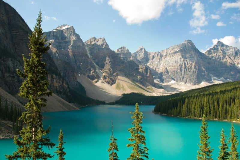加拿大冰碛湖