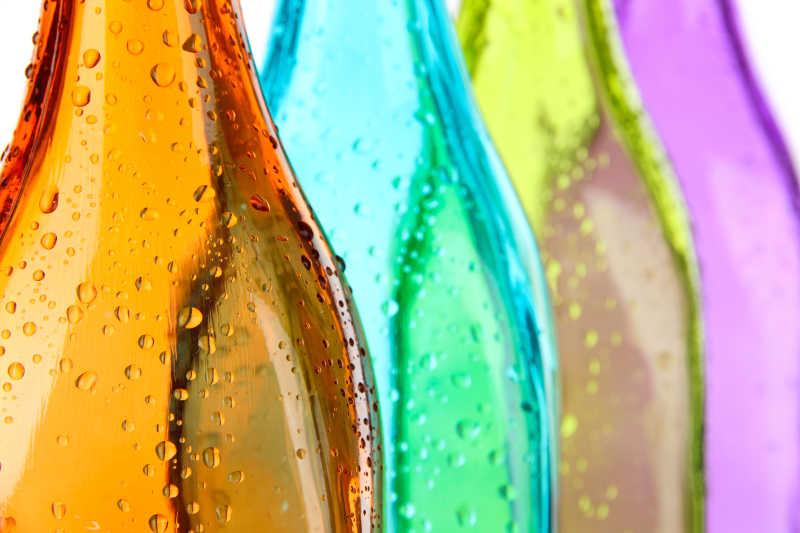彩色的瓶子