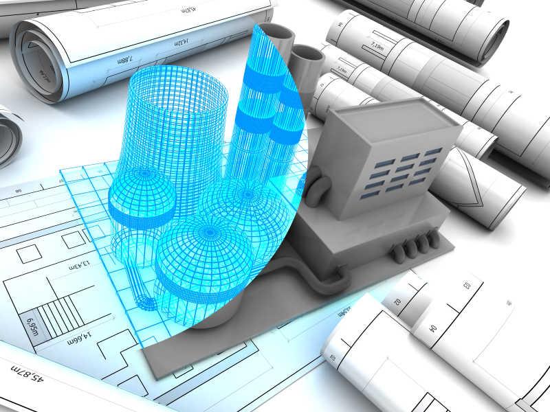 厂房设计方案的三维模型
