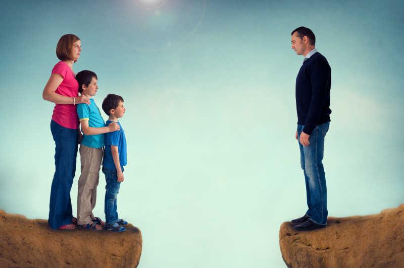 家庭孩子分离的概念