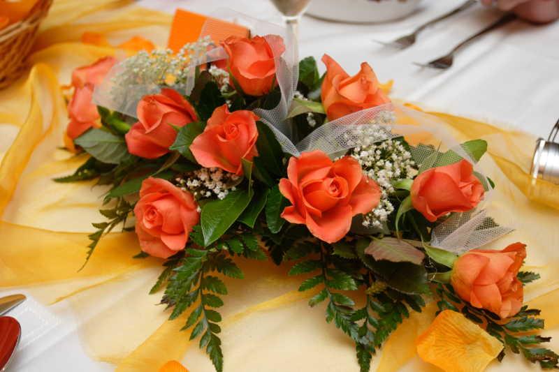 浪漫的粉色玫瑰花