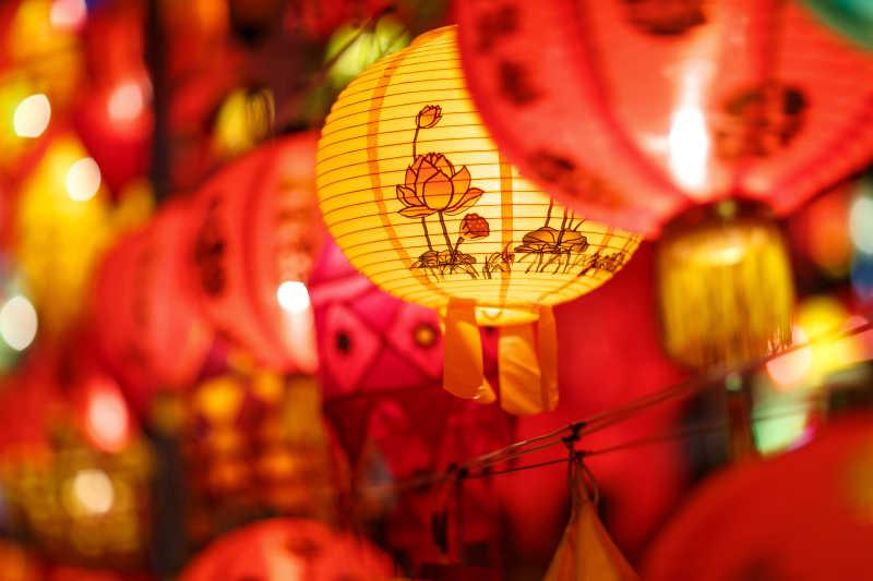 越南的纸质灯笼