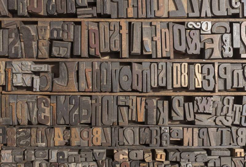 金属印刷字体