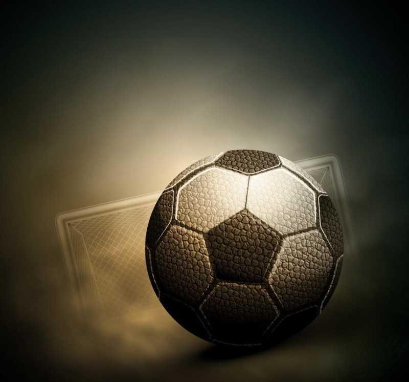 黑色矢量足球模型