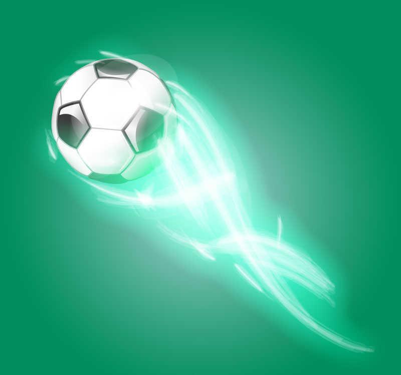 带着发光拖尾的矢量足球模型