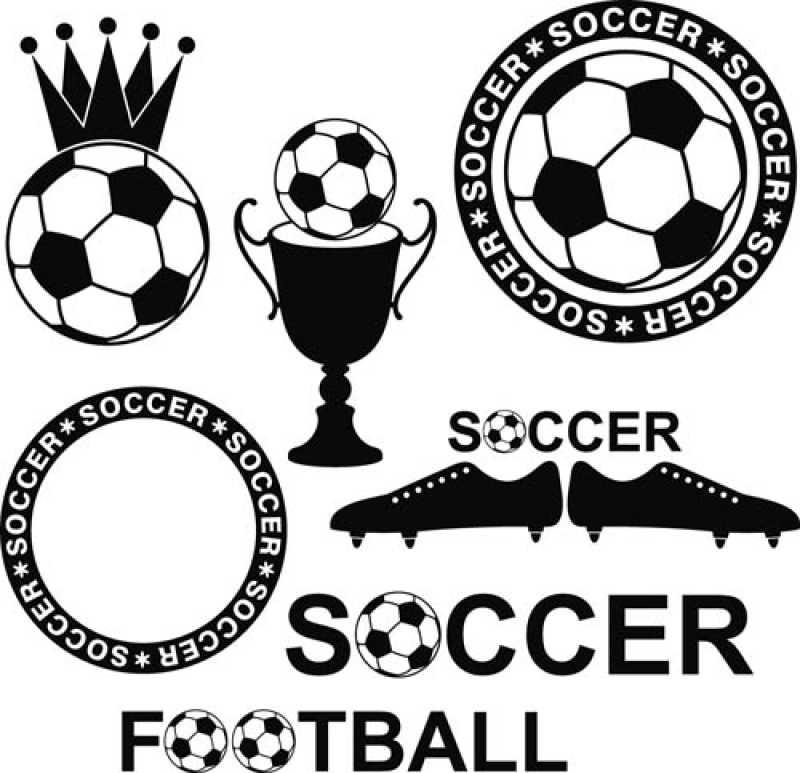 足球主题矢量图标