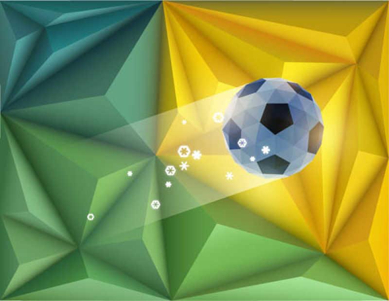 矢量抽象背景下的足球