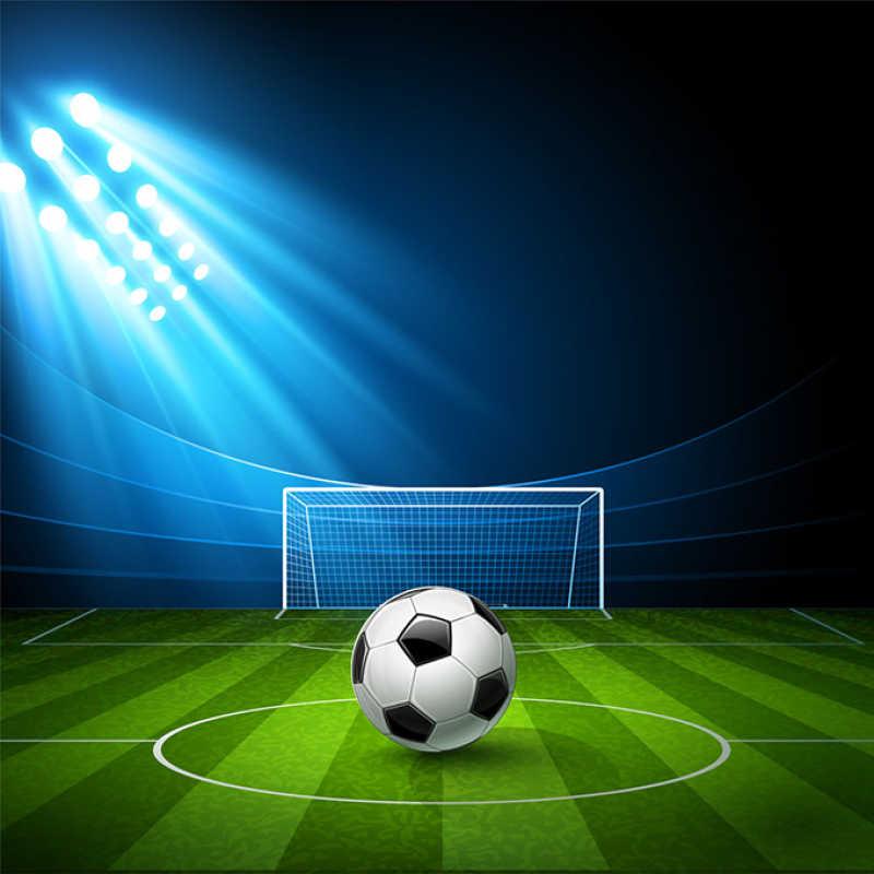 矢量足球背景