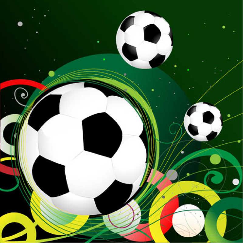 矢量的足球主题背景