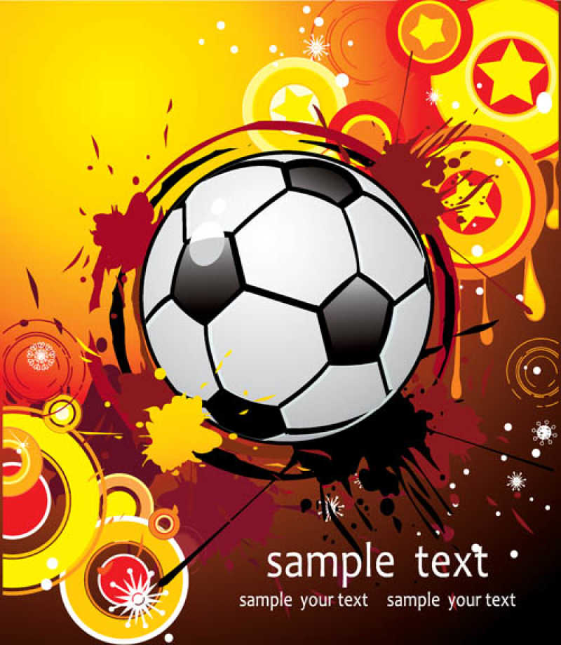 矢量足球海报设计