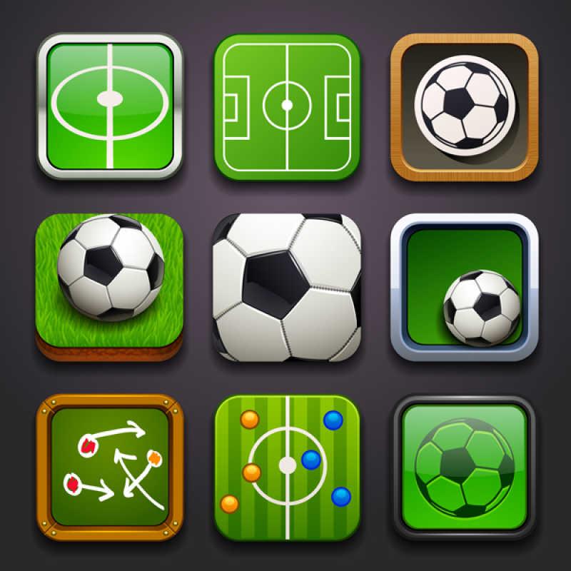矢量足球图标