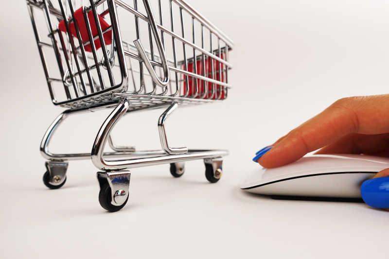 轻点鼠标实现网络购物概念
