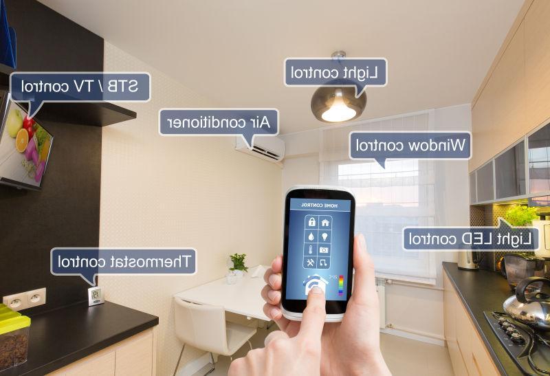房屋里的智能手机设备
