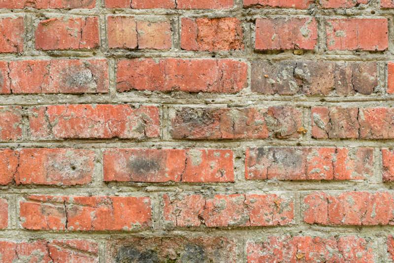 红色的砖墙作为背景