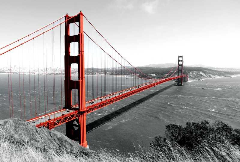 古典风格的金门大桥