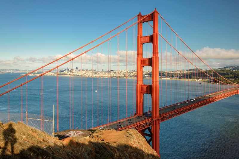 世界闻名的金门大桥
