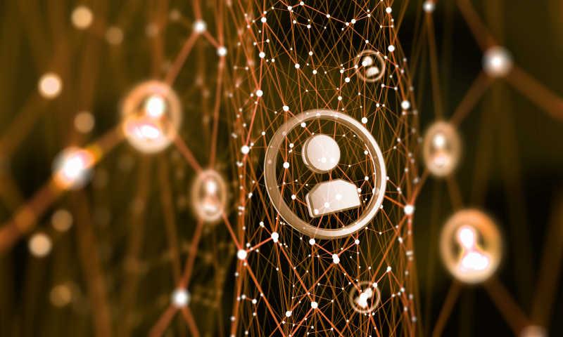 模拟社会连线概念背景