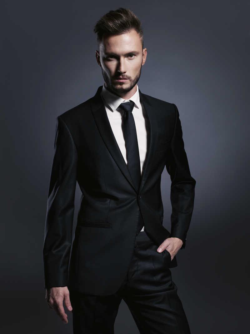 男士正装衬衣图片_穿西装的男人图片-穿格子衬衫打领结的穿西装的男人素材-高清 ...