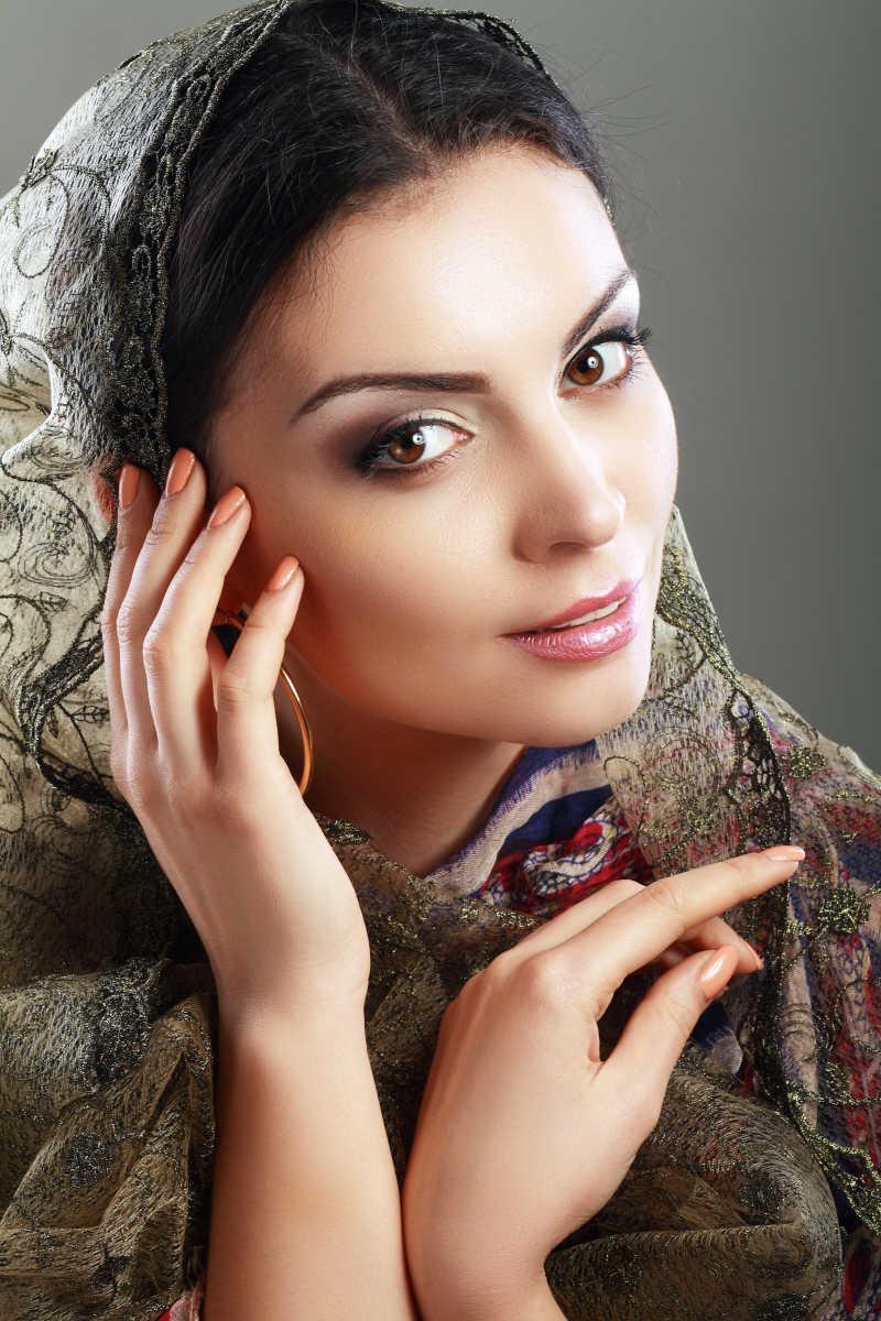 印度的优雅美女