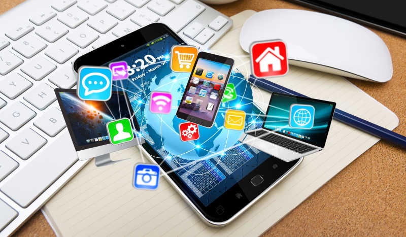 应用程序把各种网络设备连接在一起