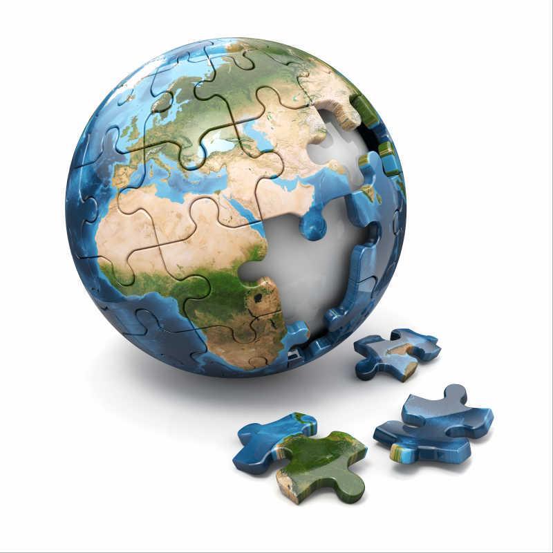 地球拼图模型